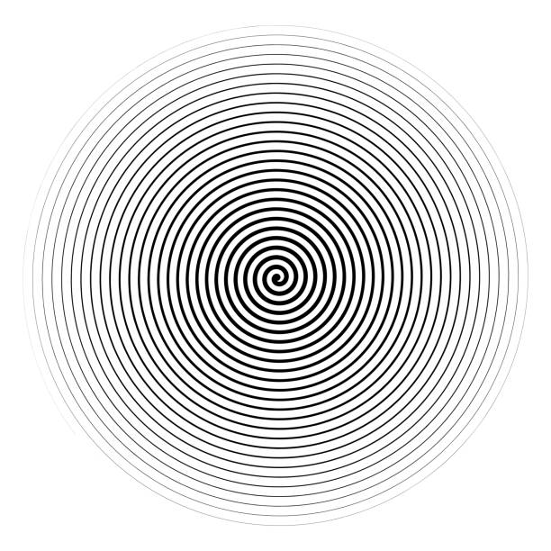 vector black spiral isolated on white background. - spiral stock illustrations