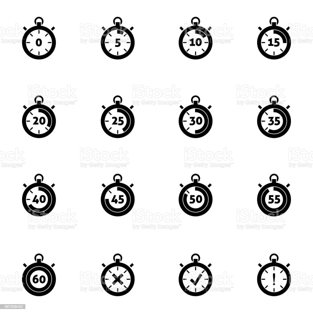 royalty free digital stopwatch clip art  vector images