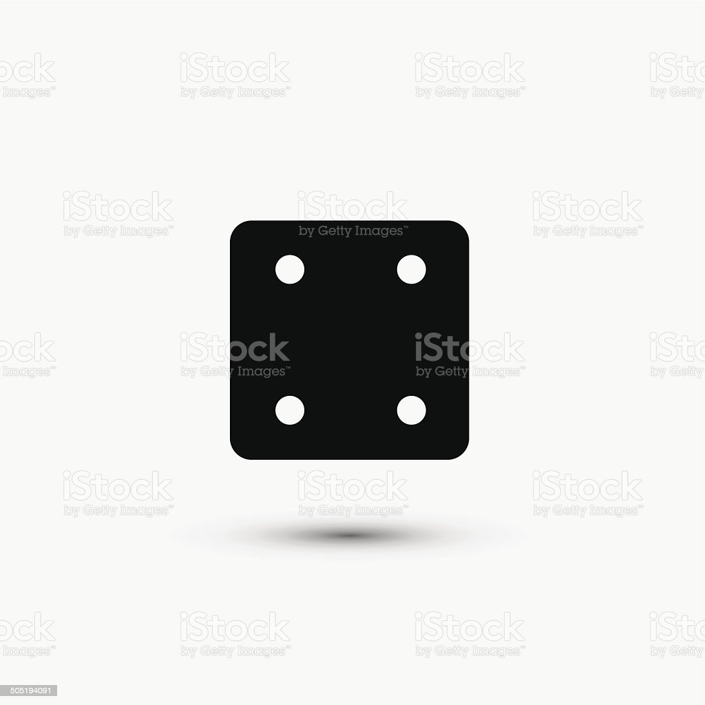 Vector black web icon on white background. Eps10 royalty-free stock vector art