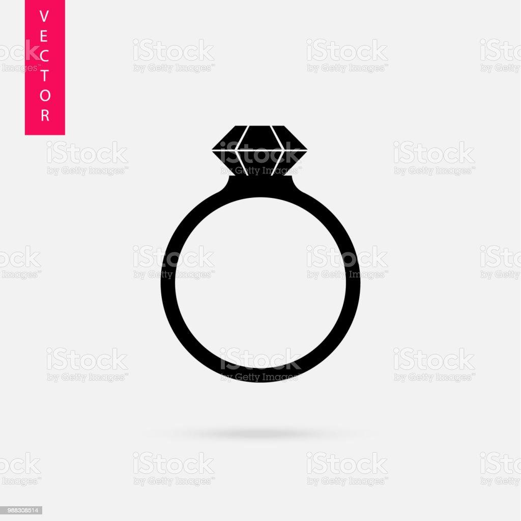Icône De Vector Noir Anneaux De Mariage Vecteurs Libres De
