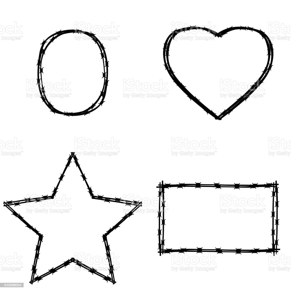vector black wire in various shape stock vector art 543599534 istock Area and Perimeter of Compound Shapes vector black wire in various shape royalty free stock vector art