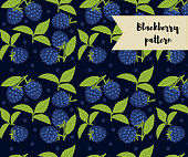 vector blackberry seamless pattern. background, pattern, fabric design, wrapping paper cover