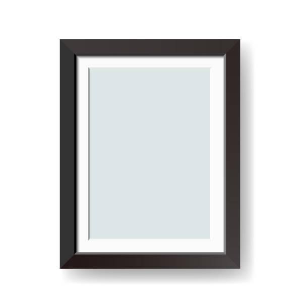 ilustraciones, imágenes clip art, dibujos animados e iconos de stock de vector en blanco negro marco aislado sobre fondo blanco - bordes de marcos de fotografías