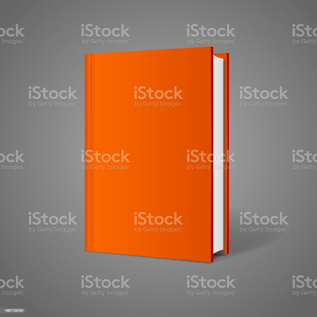 Vector blank book cover perspective orange royalty-free stock vector art