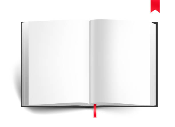 Vector blank book on white background. Vector illustration isolated on white background.  EPS10 encyclopaedia stock illustrations