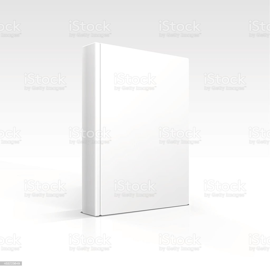 Vector Blank Book vector art illustration