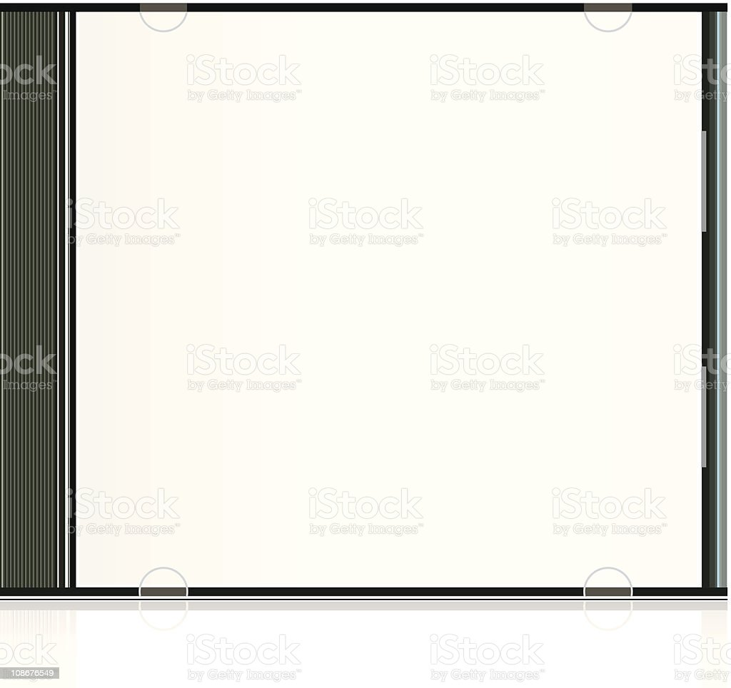 Vector blank cd box vector art illustration