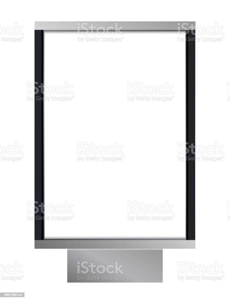 Vector blank citylight lightbox - Royalty-free Advertisement stock vector