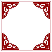 Vector Blank Corner Frame of Chinese Style