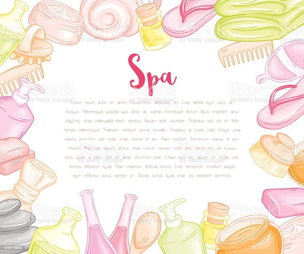 vector blank design for spa invitation or gift voucher vector art illustration