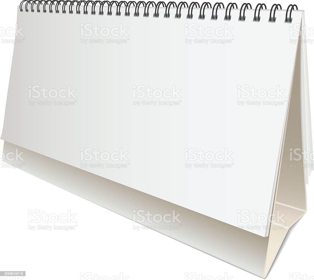 Calendario Vector Blanco.Ilustracion De Vector En Blanco Calendario De Escritorio Y