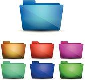 Vector blank folders