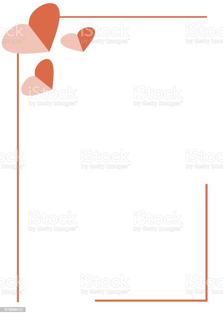 Vector Blank For Letter Or Greeting Card White Paper Form With Red ...