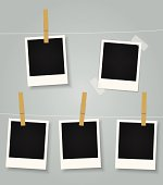 Vector Blank Instant Photo Prints Collection