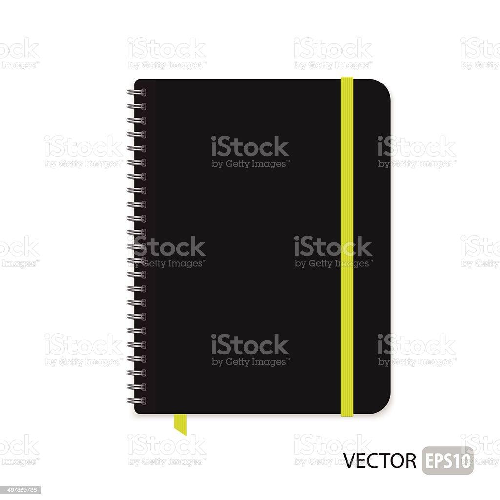 A vector blank isolated notepad vector art illustration