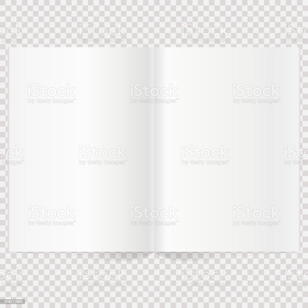 Vector blank magazine spread