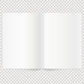 Vector blank magazine spread