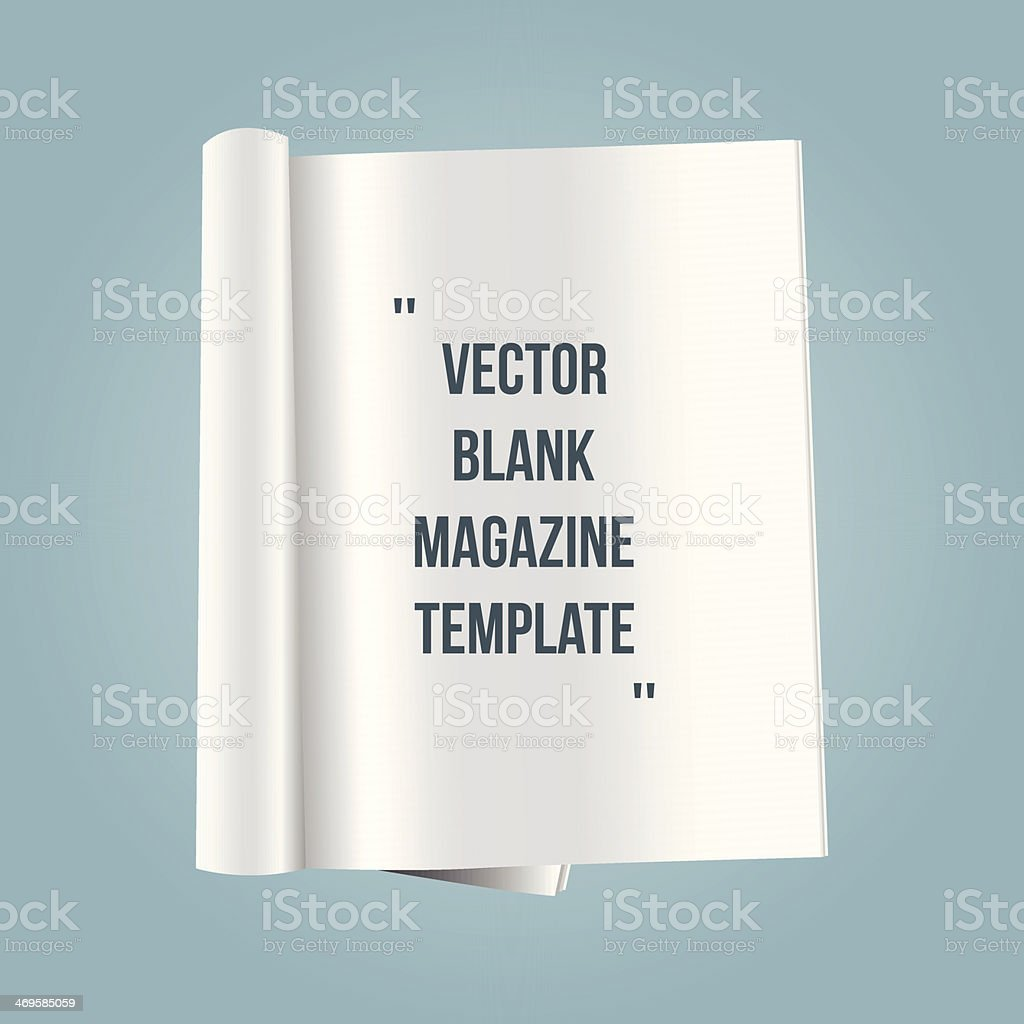 vector blank magazine template