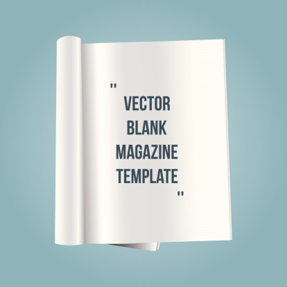 Vector Blank Magazine Template Stock Illustration - Download Image Now