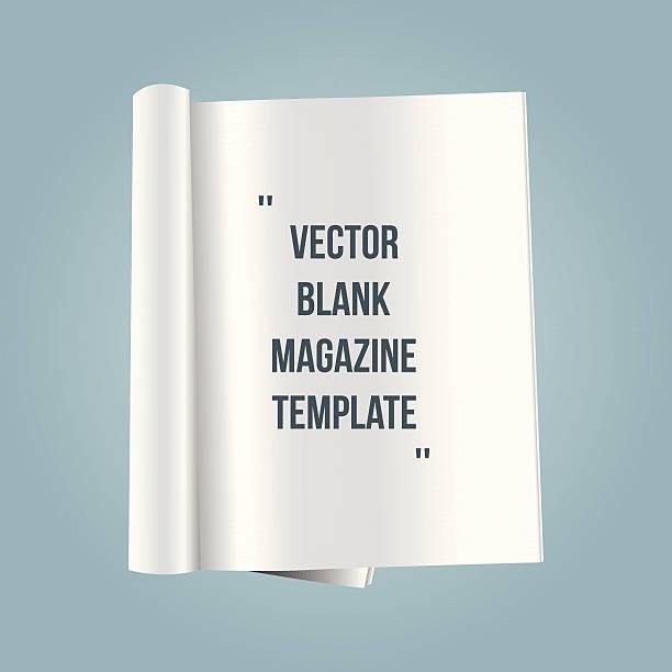 stockillustraties, clipart, cartoons en iconen met vector blank magazine template - magazine
