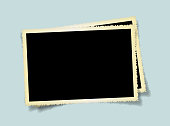 Vector blank old picture frame textured isolated