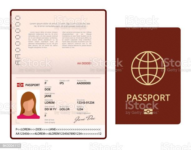 Vector blank open passport template international passport with vector id942004112?b=1&k=6&m=942004112&s=612x612&h=wnwi 3xjk geoojyf uagrpug33mmoryctuoyizl ec=