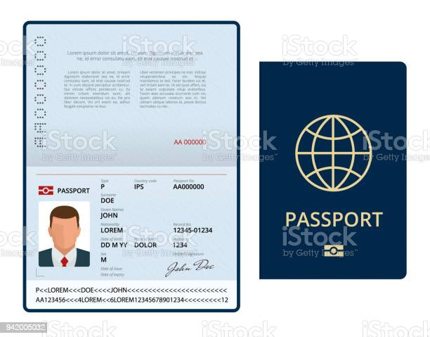 Vector blank open passport template international passport with vector id942005032?b=1&k=6&m=942005032&s=612x612&h=439dwj bdfyr9jwdhpxdcleitrumy3q1octfecle8na=
