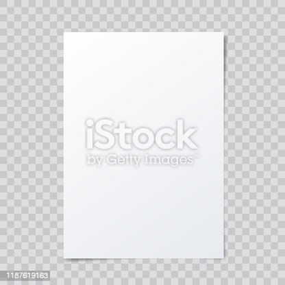 istock Vector blank paper mockup on abstract checkered background. 1187619163