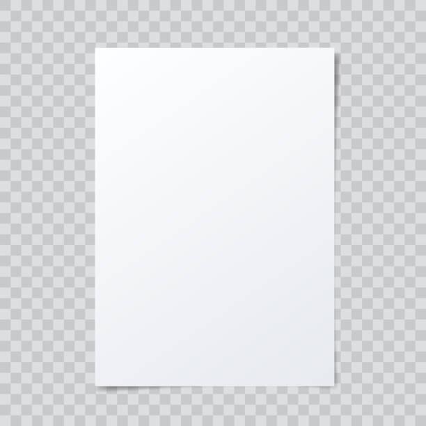 вектор пустой макет бумаги на абстрактном клетчатом фоне. - письмо документ stock illustrations