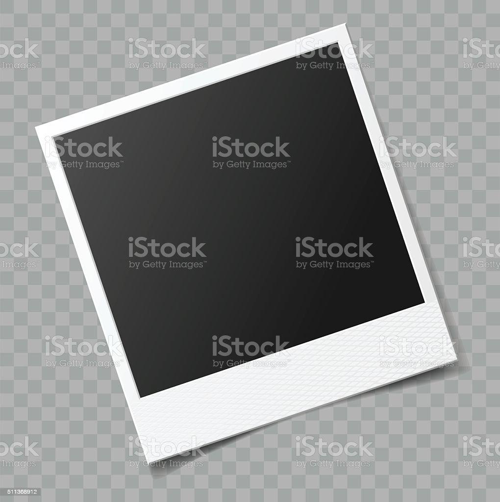 Vektor leere Bilderrahmen mit transparente Schatten-Effekt - Lizenzfrei Alt Vektorgrafik