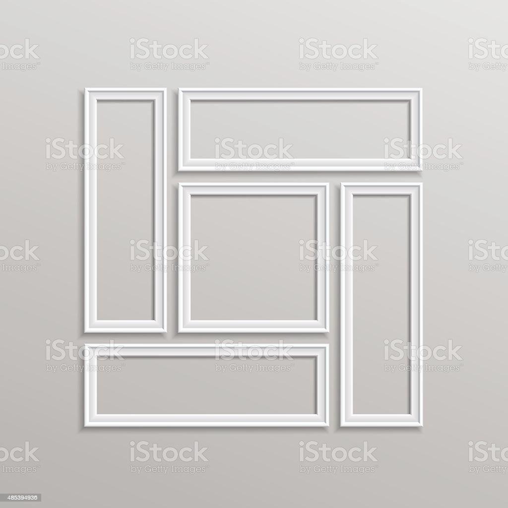 Vektor Leere Bilderrahmen Vorlage Komposition Set Isoliert Stock ...