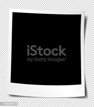 Vector blank picture frame textured isolated on white background