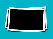 Vector blank picture frame textured isolated