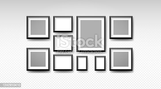 istock Vector blank picture frame textured isolated 1242910410