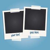 vector blank polaroid photo frames
