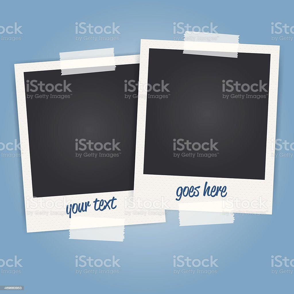 vector de marcos de fotos polaroid blanco - ilustración de arte vectorial