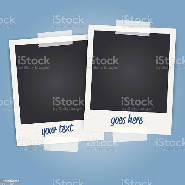 Vektor Leere Polaroidfotorahmen Stock Vektor Art und mehr Bilder von Alt