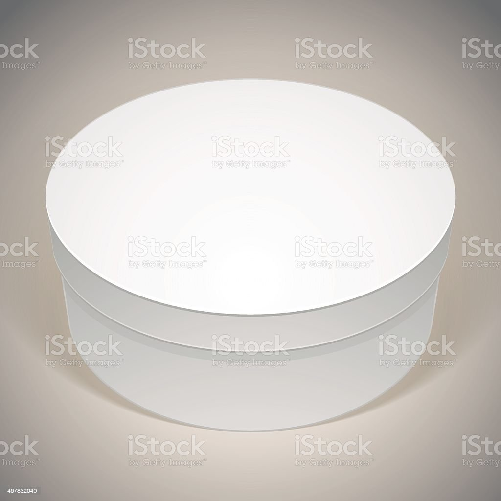 Vector blank round box template for your package design put stock vector blank round box template for your package design put royalty free stock pronofoot35fo Images