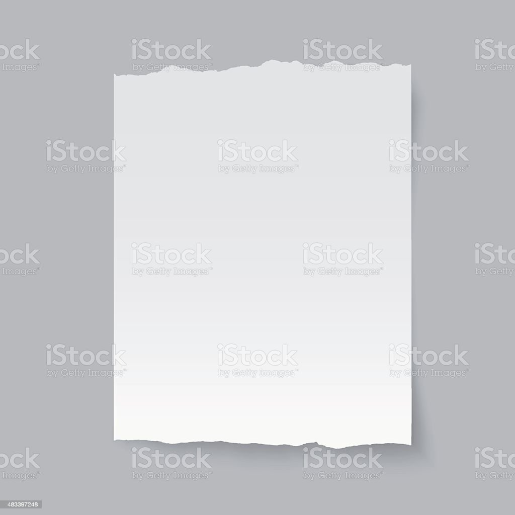 Vector blank sheet of torn paper. vector art illustration