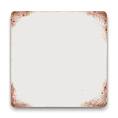 Vector blank tin sign square background.