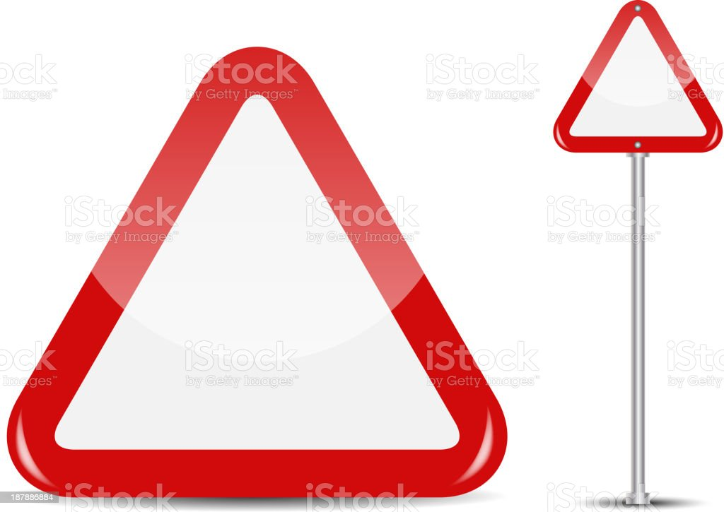 Vector Blank Traffic Sign isolated on white background royalty-free vector blank traffic sign isolated on white background stock vector art & more images of arranging