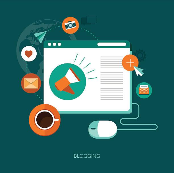 Blog concept illustration vectorielle - Illustration vectorielle