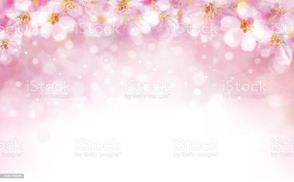 Vector blossoming sakura  background. vector art illustration