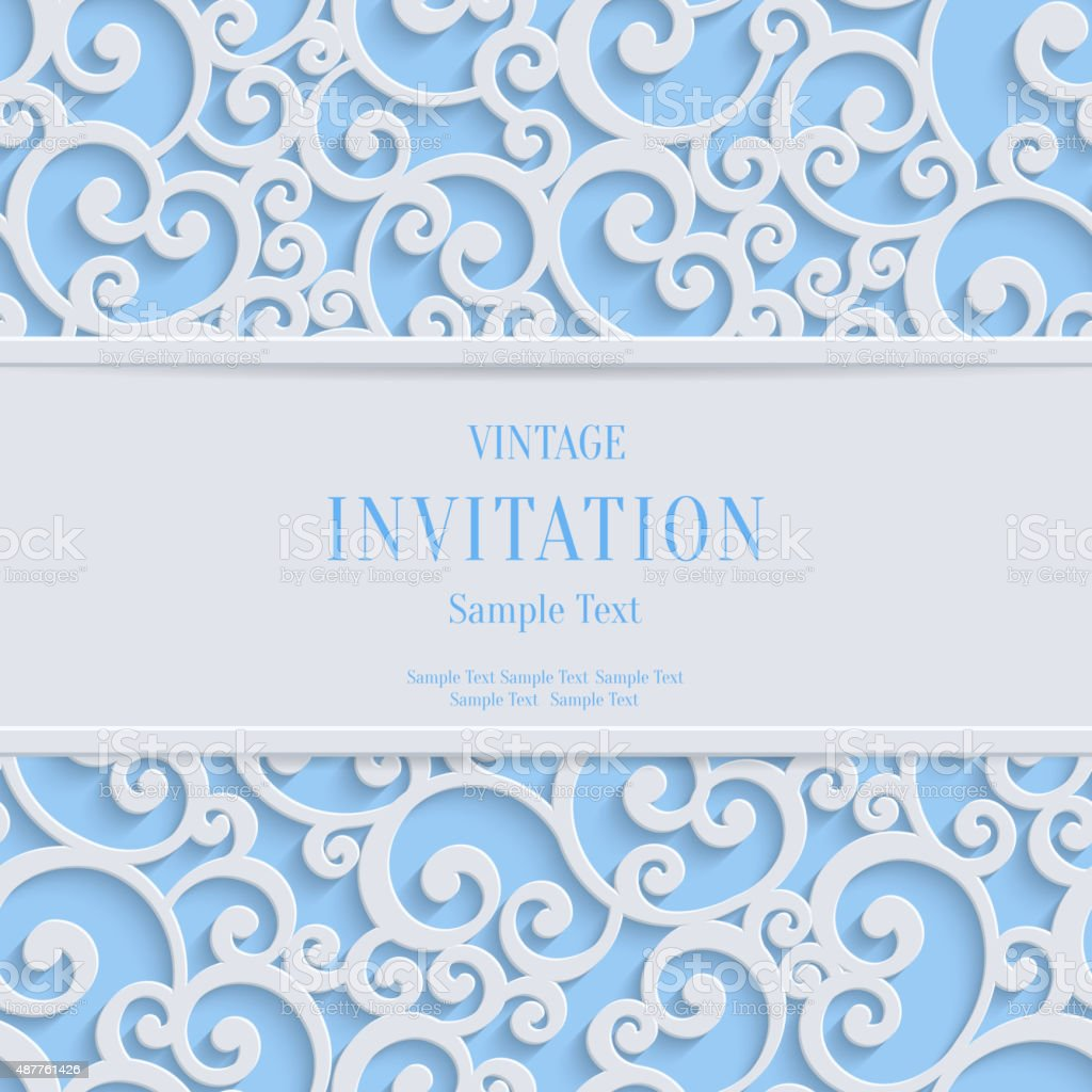 Vector blue 3d vintage christmas or invitation cards background vector blue 3d vintage christmas or invitation cards background royalty free vector blue 3d vintage stopboris Gallery