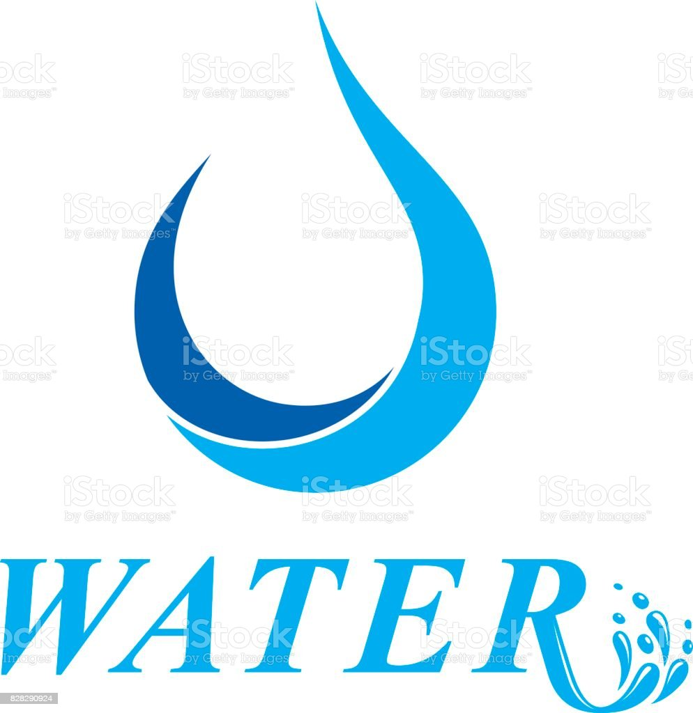 Vector blue clear water drop for use as marketing design symbol vector blue clear water drop for use as marketing design symbol human and nature coexistence biocorpaavc Image collections