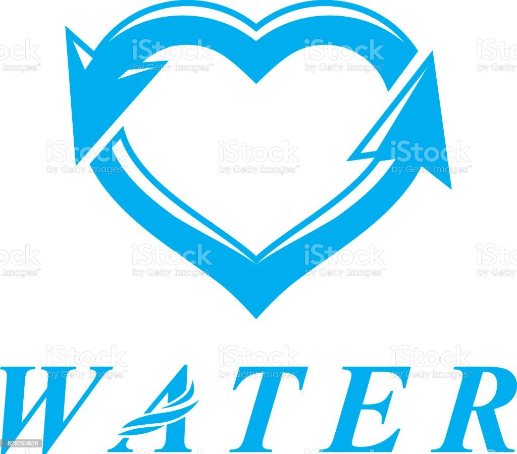 Vector Blue Clear Water Drop Symbol For Use In Marketing Design