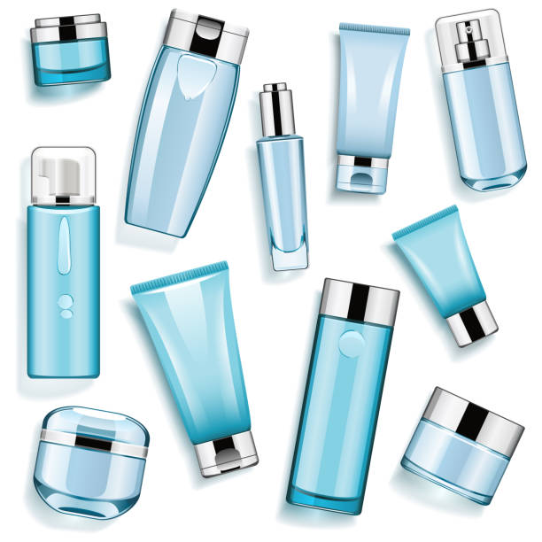 Vector Blue Cosmetic Packaging – Vektorgrafik