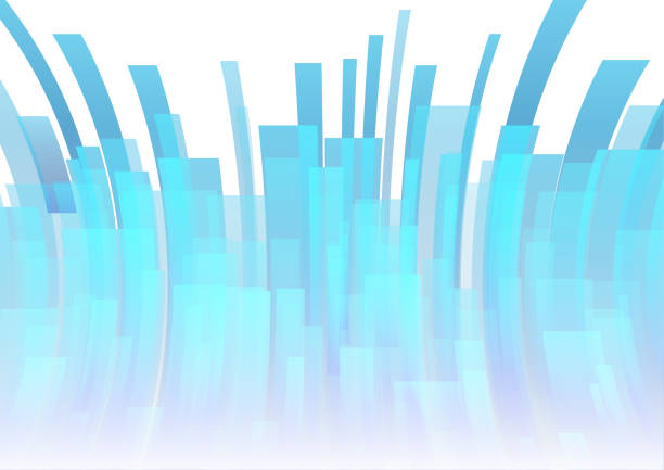Vector : Blue curve stripe on white background vector art illustration