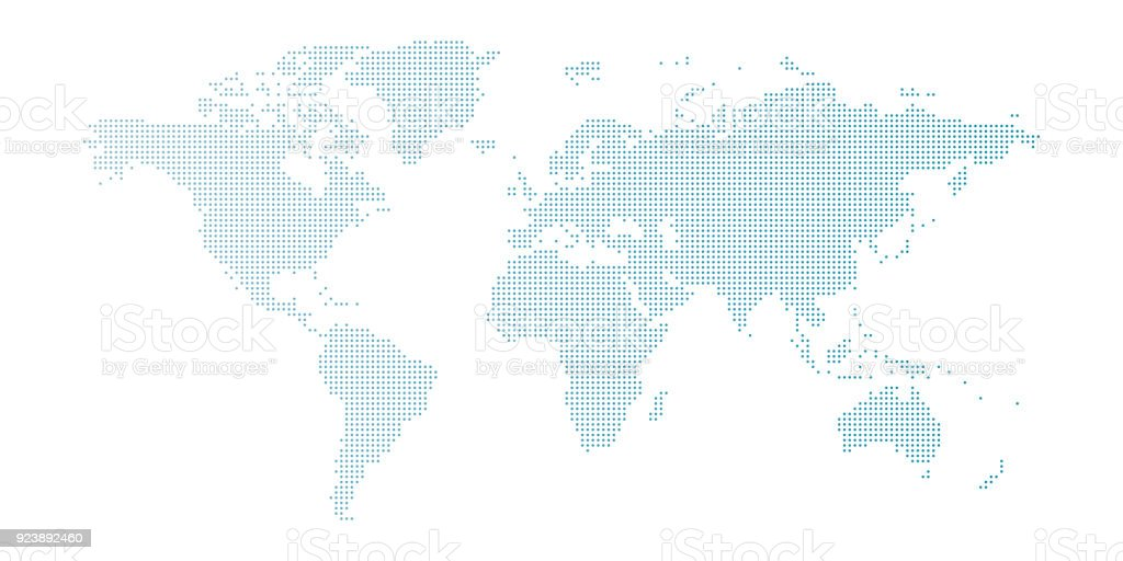 Vector blue dotted world map isolated on white background stock vector blue dotted world map isolated on white background royalty free vector blue dotted world gumiabroncs Images