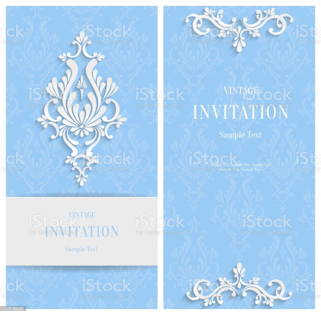 Fondo Floral Vector Azul 3d Plantilla De Navidad O Tarjetas De ...